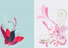Beautiful floral abstract background in soft pink Royalty Free Stock Photos