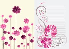 Beautiful floral abstract background in soft pink. Purple and white- Great for textures and backgrounds for your projects Royalty Free Stock Photo