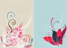 Beautiful floral abstract background in soft red Stock Photos