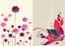 Beautiful floral abstract background in soft red Royalty Free Stock Images