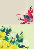 Beautiful floral abstract background in soft red Royalty Free Stock Image