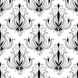 Beautiful floral arabesque seamless pattern Stock Images
