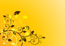 Beautiful floral background. Floral background vector for your business Royalty Free Stock Photos