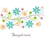 Beautiful Floral Background Stock Photography