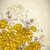 Beautiful floral background stock illustration