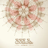 Beautiful floral background with Arabic text for Eid Mubarak. Royalty Free Stock Photography