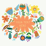 Beautiful floral background. Bright illustration, can be used as creating card,invitation card for wedding,birthday and other holiday and cute summer background Royalty Free Stock Photos