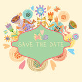 Beautiful floral background. Bright illustration, can be used as creating card,invitation card for wedding,birthday and other holiday and cute summer background Royalty Free Stock Photography