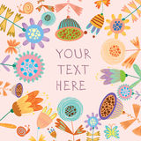 Beautiful floral background. Bright illustration, can be used as creating card,invitation card for wedding,birthday and other holiday and cute summer background Royalty Free Stock Image