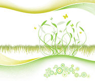 Beautiful floral background with modern lined art Stock Photo