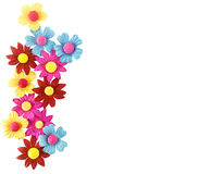 Beautiful floral background from paper Royalty Free Stock Image