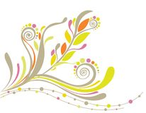 Beautiful floral background in soft yellow Stock Photography