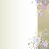 Beautiful floral  background. Vector illustration of a beautiful floral  background Royalty Free Stock Image