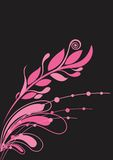 Beautiful floral background in vibrant pink Stock Images