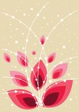 Beautiful floral background in vibrant red Royalty Free Stock Images