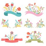 Beautiful floral banners Royalty Free Stock Photo