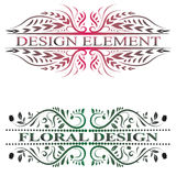 Beautiful floral banners with swirls. Royalty Free Stock Photography