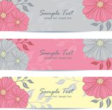 Beautiful floral banners. Vector illustration Royalty Free Stock Photos