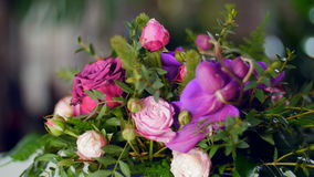 Beautiful floral bouquet stock video footage