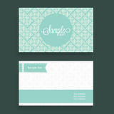 Beautiful floral business card or visiting card design. Royalty Free Stock Photos