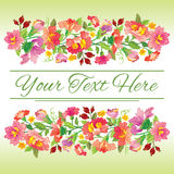 Beautiful floral card Royalty Free Stock Image