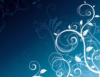 Beautiful floral curves Royalty Free Stock Photography