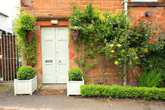 Beautiful floral decoration in front of the house Stock Image