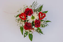 Beautiful floral decorations. For the anniversary jubilee Royalty Free Stock Photos