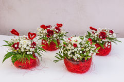Beautiful floral decorations. For the anniversary jubilee Stock Images