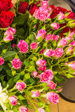 Beautiful floral decorations. For the anniversary jubilee Royalty Free Stock Images