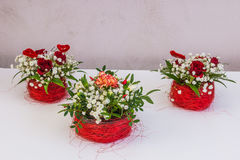 Beautiful floral decorations. For the anniversary jubilee Stock Photos