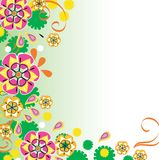 Beautiful floral design. Beautiful bright floral ornament for your design Royalty Free Stock Photos