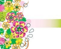 Beautiful floral design. Beautiful floral ornament for your design Stock Photos