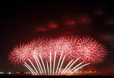 Beautiful floral design by Fireworks at F1 Circuit Bahrain Royalty Free Stock Photos