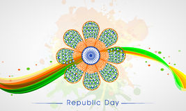 Beautiful floral design for Indian Republic Day celebration . Royalty Free Stock Photo