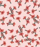Pattern, flower, flowers, floral, abstract, pink, design, illustration, nature, butterfly, art, wallpaper, white, seamless, spring royalty free illustration