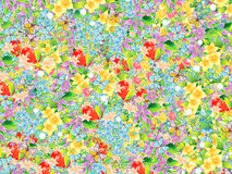Beautiful floral designs Stock Images