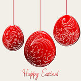 Beautiful floral Easter eggs illustration Stock Photography
