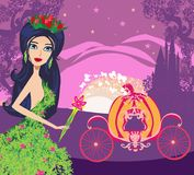 Beautiful floral fairy. Vector Illustration royalty free illustration