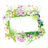 Beautiful floral frame Stock Photos