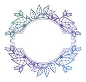 Beautiful floral frame with gradient fill. Color silhouette fram. E for advertisements, wedding and other invitations or greeting cards. Raster clip art Stock Images