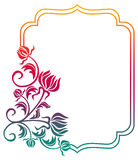 Beautiful floral frame with gradient fill. Raster clip art. Stock Photos