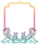 Beautiful floral frame with gradient fill. Raster clip art. Stock Image