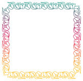 Beautiful floral frame with gradient fill. Raster clip art. Royalty Free Stock Photo
