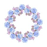 Beautiful floral frame 5. Watercolor background. Element for design Royalty Free Stock Photo