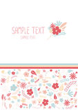 Beautiful floral greeting card Royalty Free Stock Photos