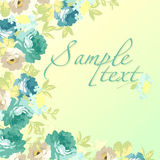 Beautiful floral Greeting card with blue roses Stock Photography