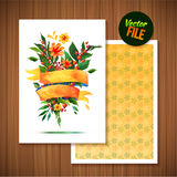 Beautiful Floral Greeting Card Bright illustration invitation card for wedding,birthday and holiday and cute summer background Mot Stock Images