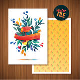 Beautiful Floral Greeting Card Bright illustration invitation card for wedding,birthday and holiday and cute summer background Mot Stock Photos