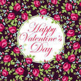 Beautiful floral greeting card for Valentine Day Royalty Free Stock Photography